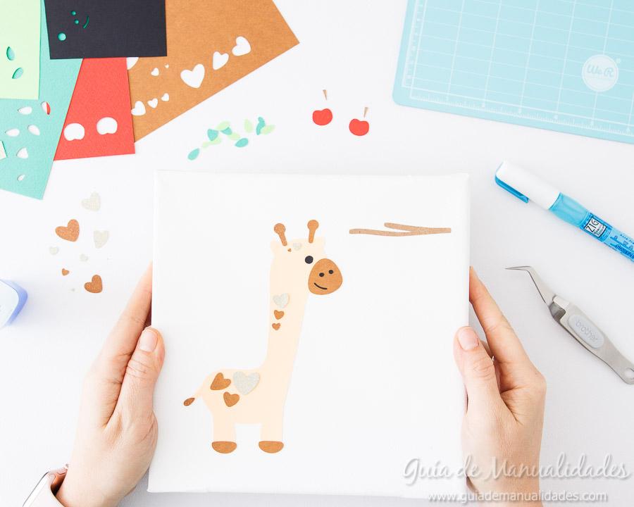 Cuadro DIY Jirafa de papel 5