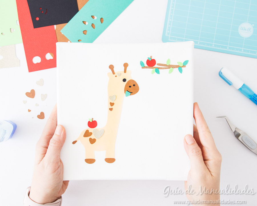 Cuadro DIY Jirafa de papel 6