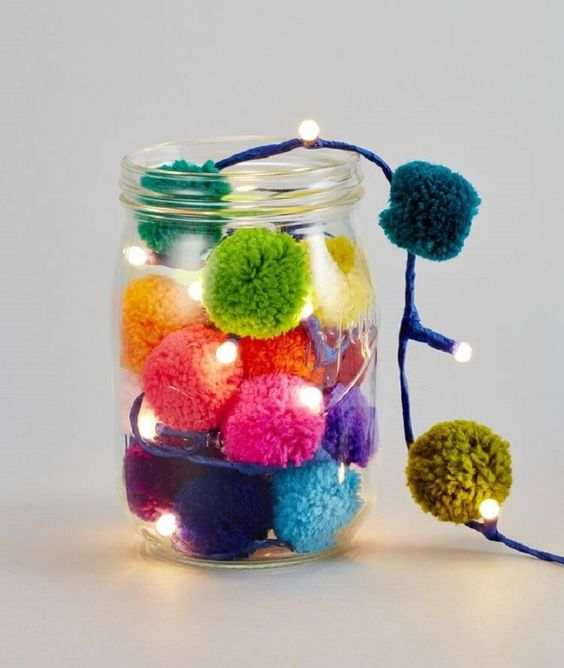 Ideas DIY con pompones 12
