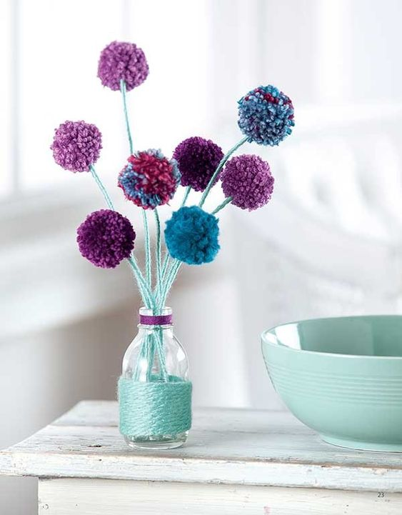 Ideas DIY con pompones 13
