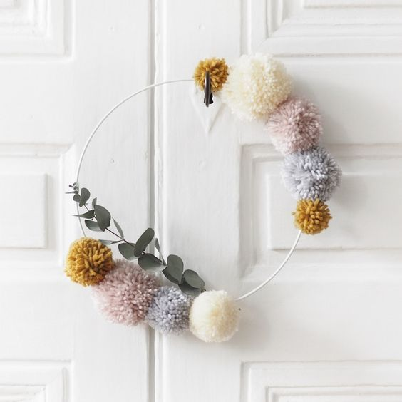Ideas DIY con pompones 5