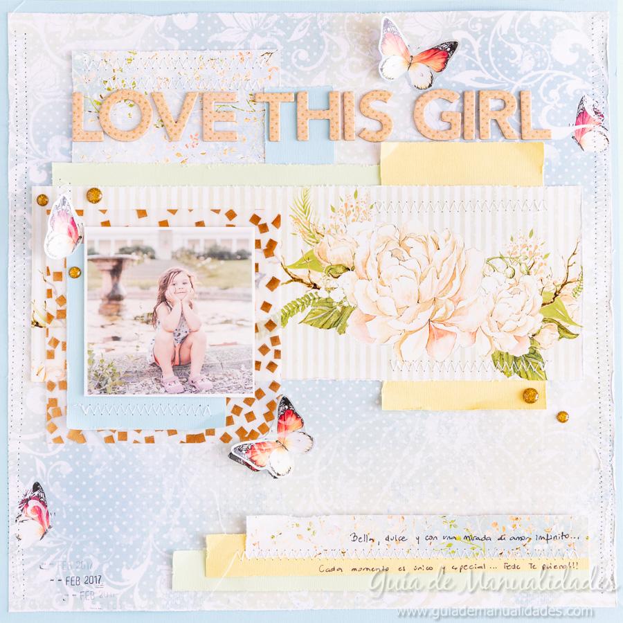 Layout de estilo romántico Love this Girl 1