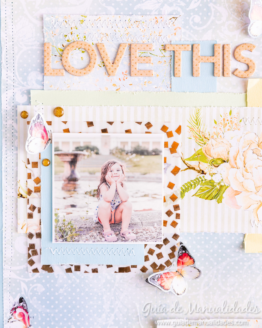 Layout de estilo romántico Love this Girl 10