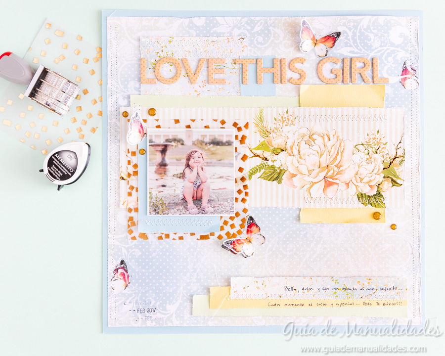 Layout de estilo romántico Love this Girl 13