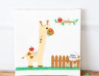 imagen El cuadro más tierno para regalar: jirafa de papel