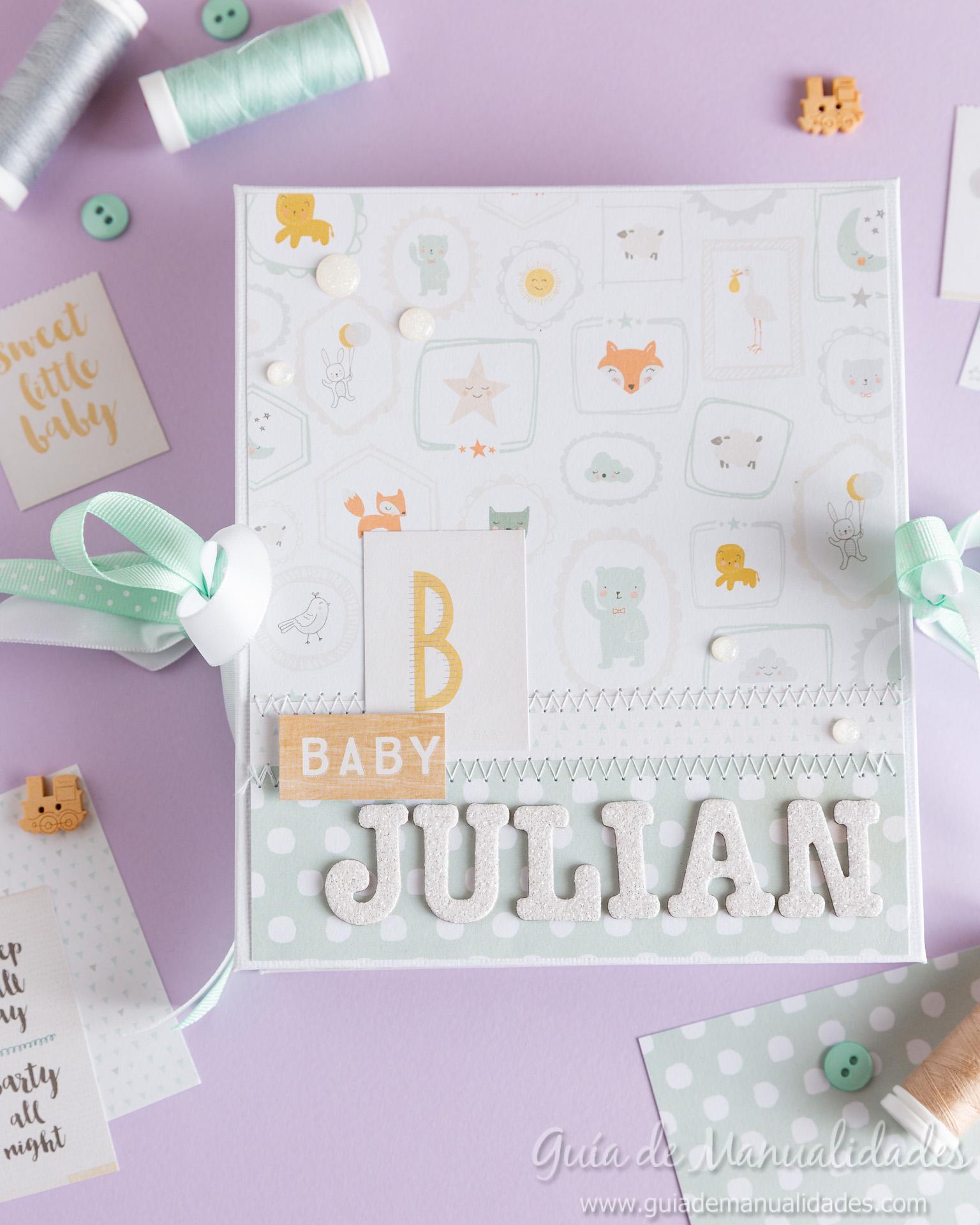 Mini álbum para un bebé 6