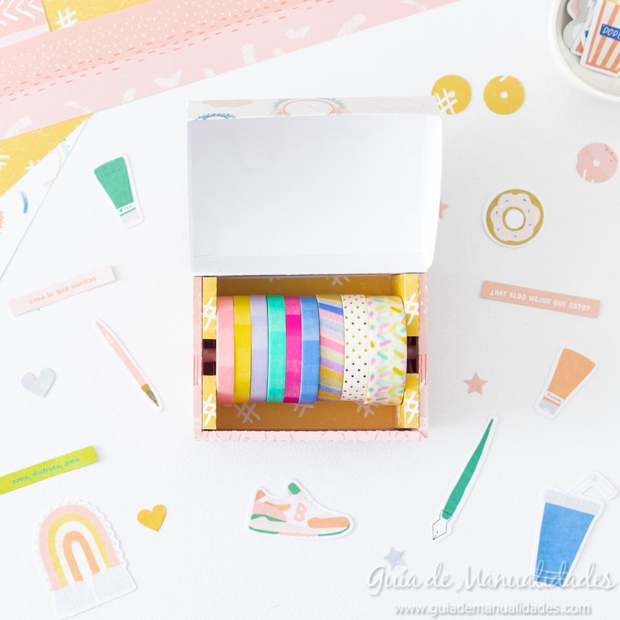 Caja para washis con papel 11