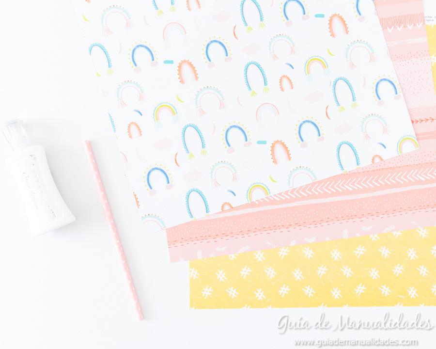 Caja para washis con papel 2