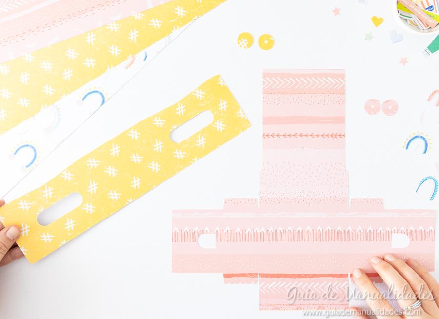 Caja para washis con papel 4