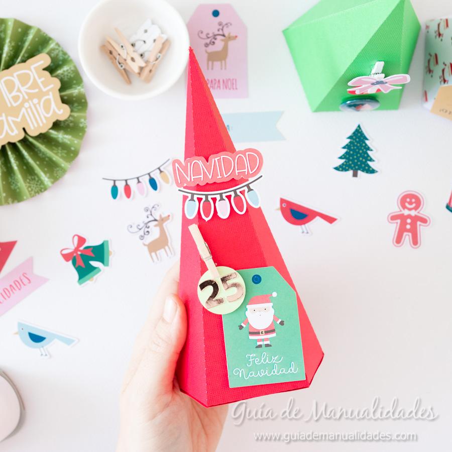 Calendario de Adviento con cajitas arbolito DIY 12