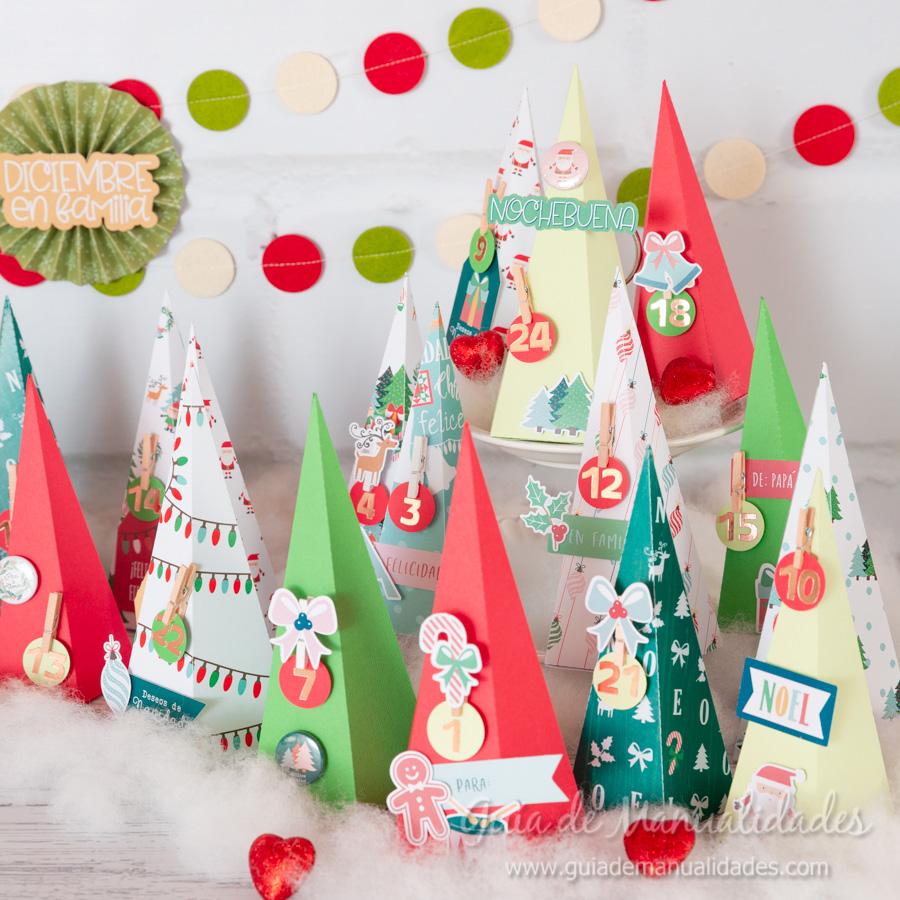 Calendario de Adviento con cajitas arbolito DIY 15