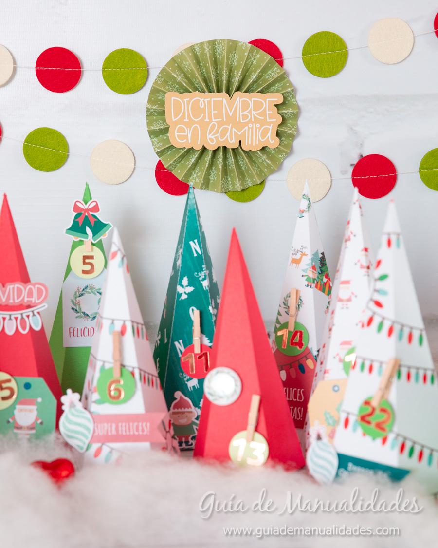 Calendario de Adviento con cajitas arbolito DIY 16
