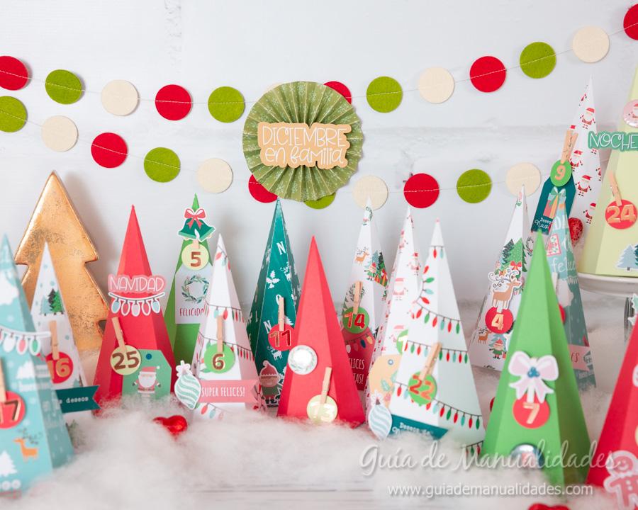 Calendario de Adviento con cajitas arbolito DIY 17