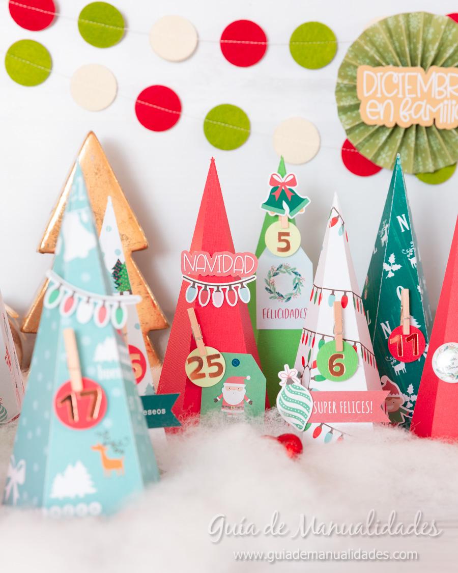 Calendario de Adviento con cajitas arbolito DIY 18
