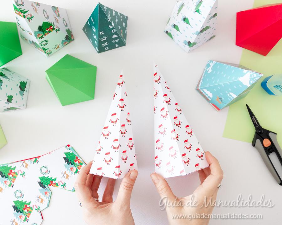 Calendario de Adviento con cajitas arbolito DIY 8
