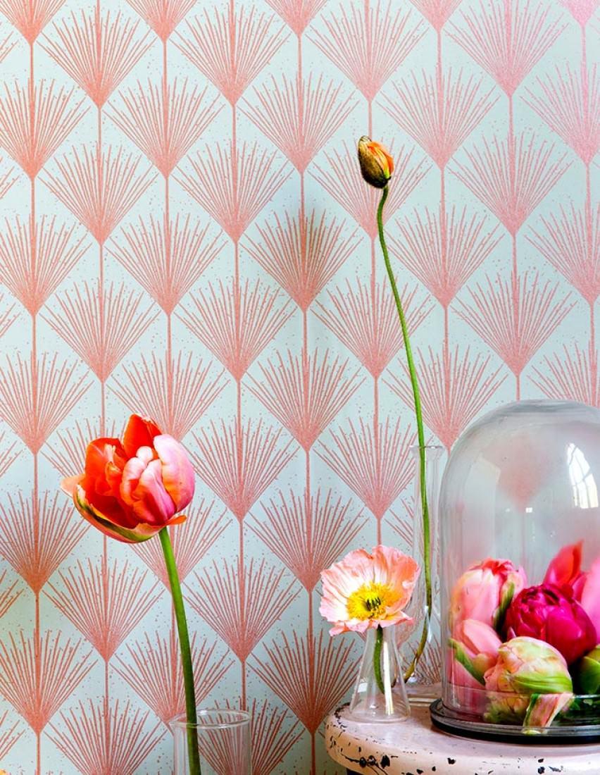 Decoración del craftroom con papel pintado 11