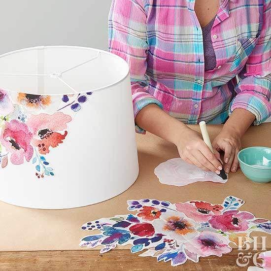Decoración del craftroom con papel pintado 6a