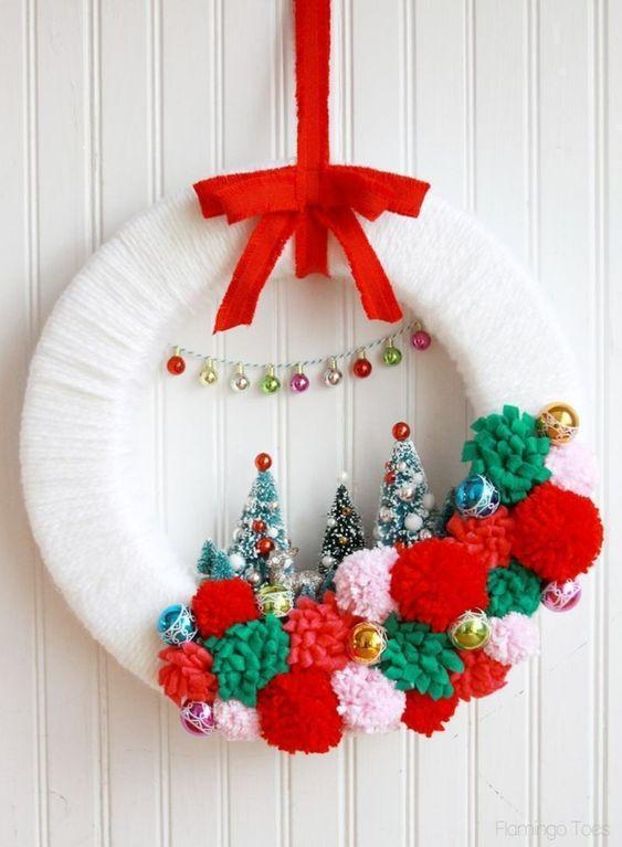 Coronas navideñas DIY 11