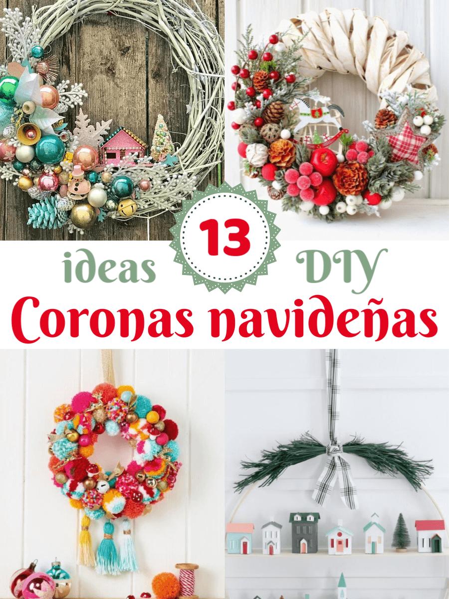 Coronas navideñas DIY 1