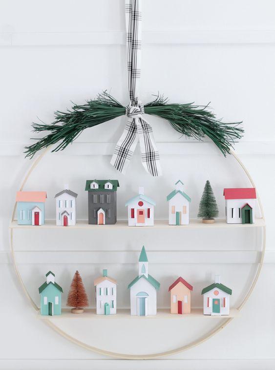 Coronas navideñas DIY 4