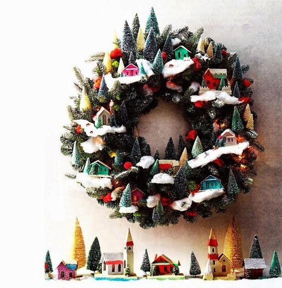 Coronas navideñas DIY 6