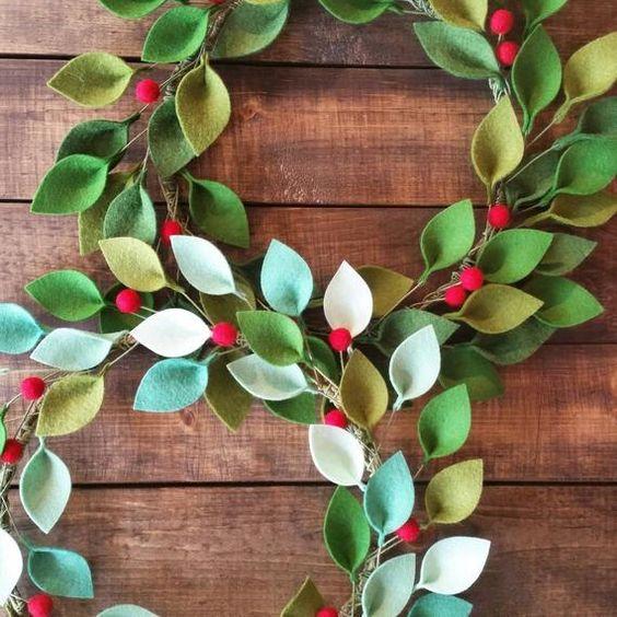 Coronas navideñas DIY 10