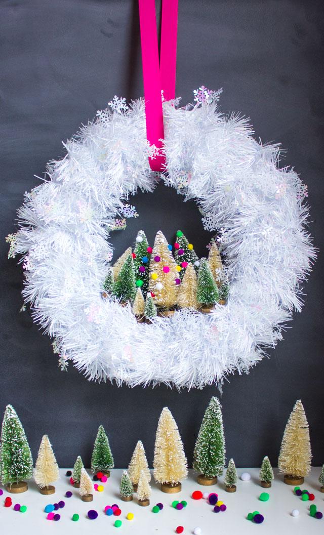 Ideas para hacer con mini arbolitos de Navidad 12