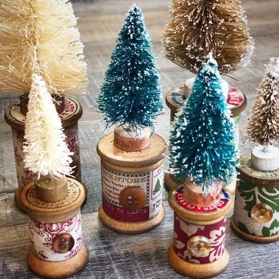 Ideas para hacer con mini arbolitos de Navidad 13