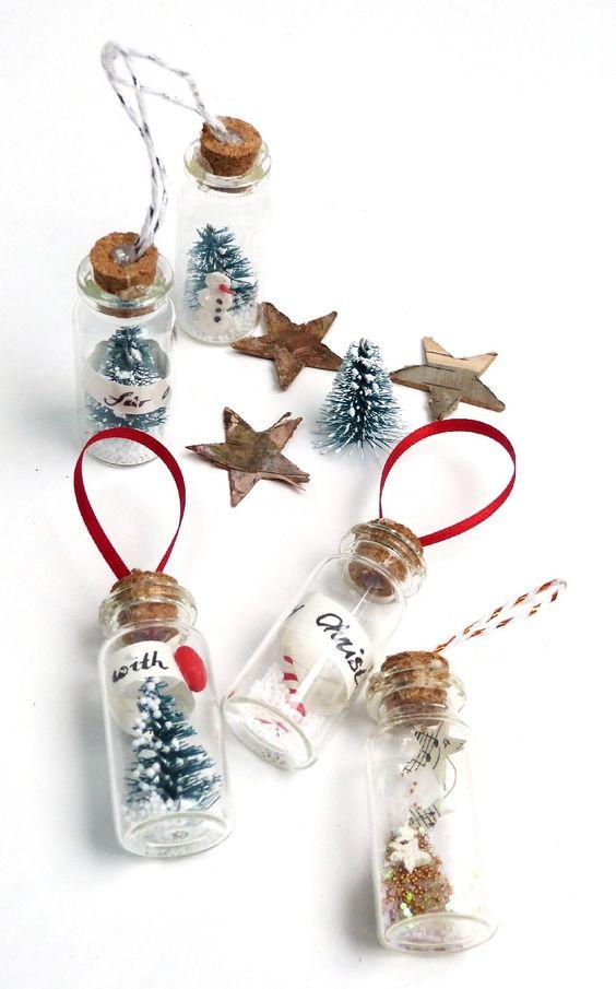 Ideas para hacer con mini arbolitos de Navidad 14