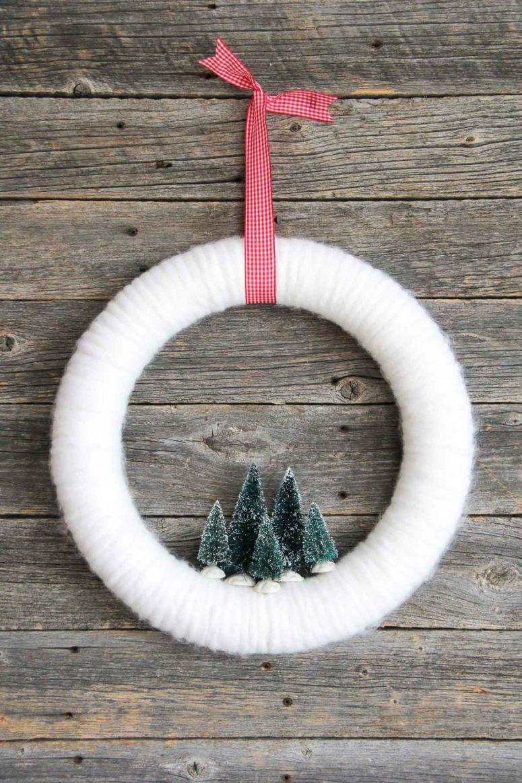 Ideas para hacer con mini arbolitos de Navidad 18
