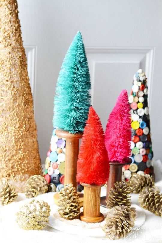 Ideas para hacer con mini arbolitos de Navidad 3