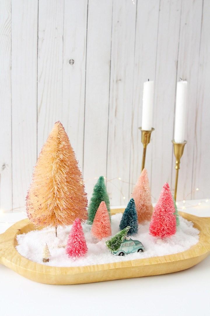 Ideas para hacer con mini arbolitos de Navidad 4