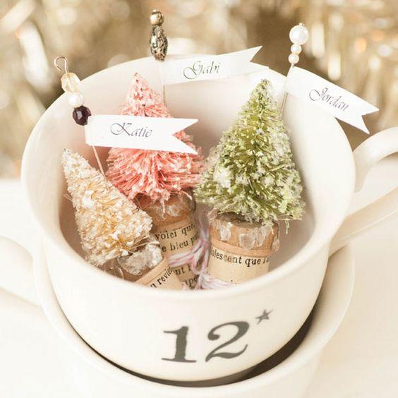 Ideas para hacer con mini arbolitos de Navidad 5