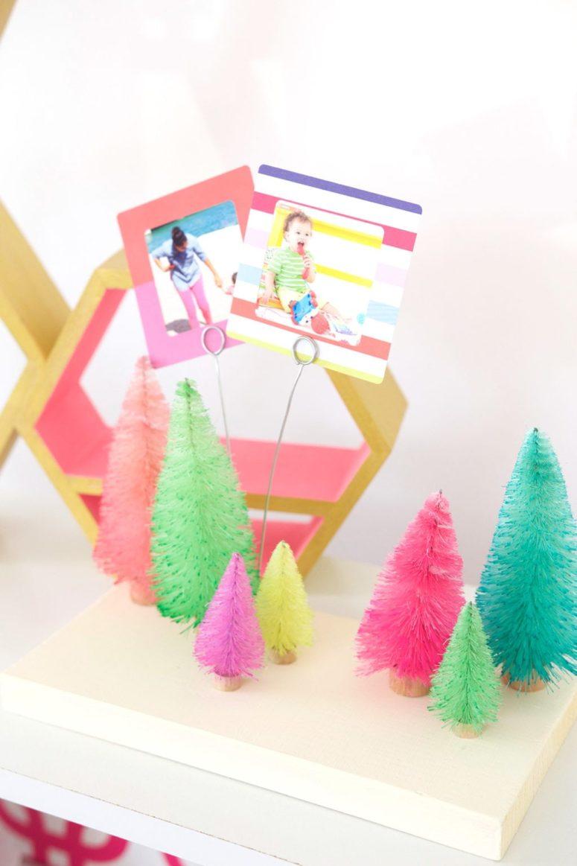 Ideas para hacer con mini arbolitos de Navidad 6