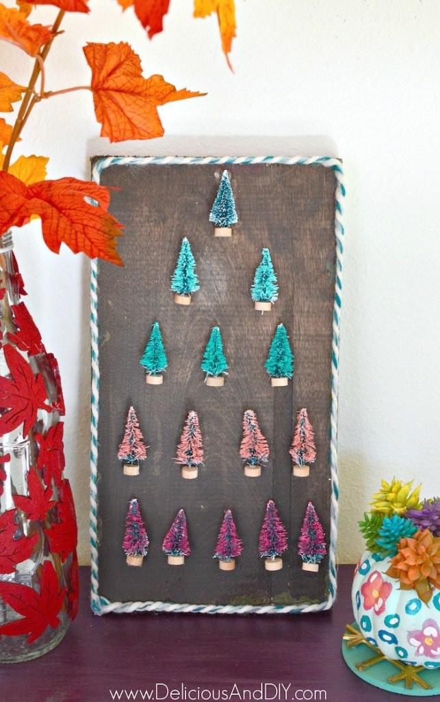 Ideas para hacer con mini arbolitos de Navidad 8