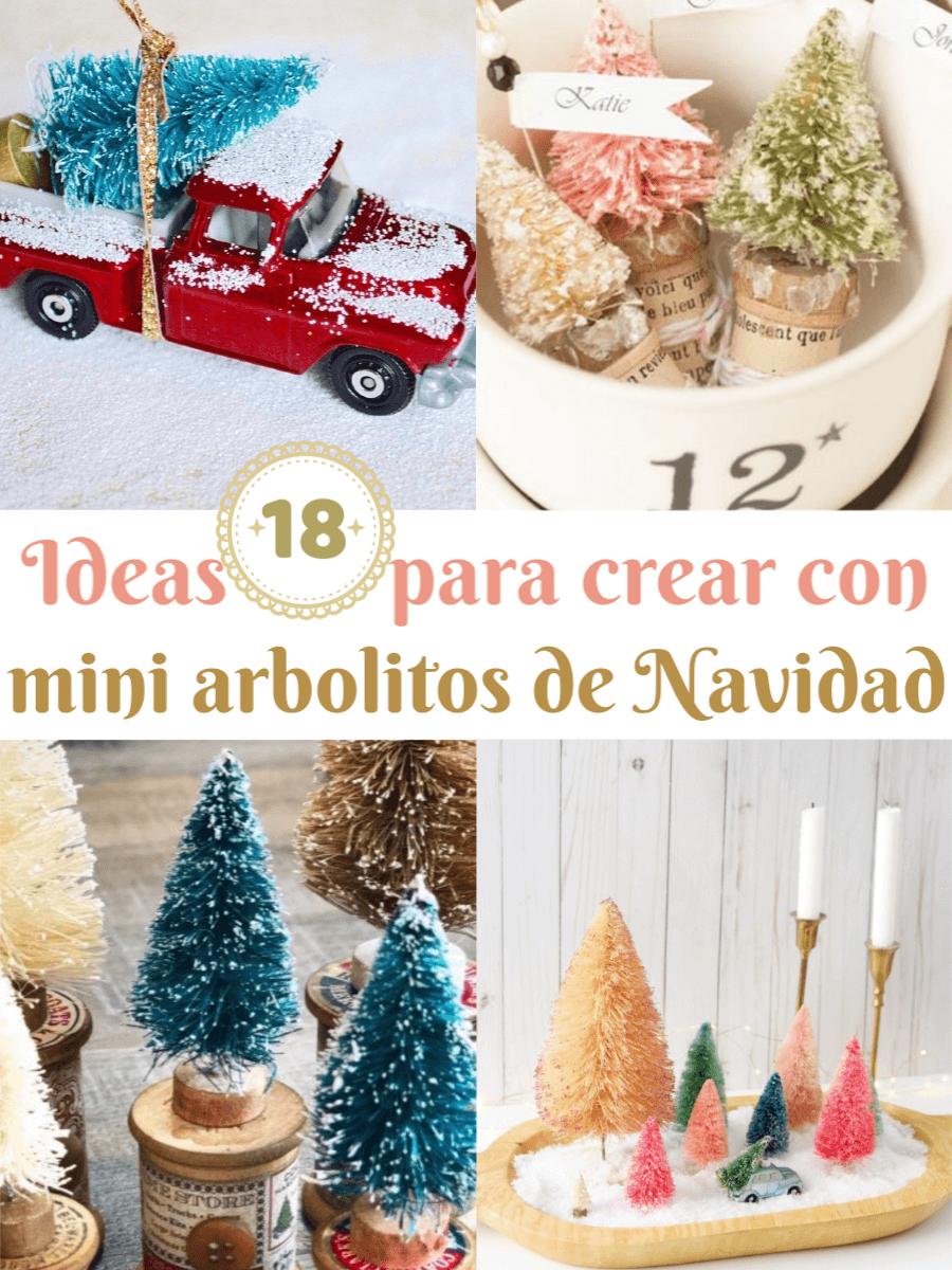 Ideas para hacer con mini arbolitos de Navidad 1