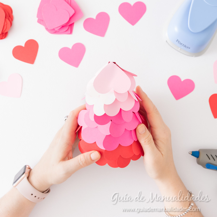 Arbolitos románticos con corazones 6