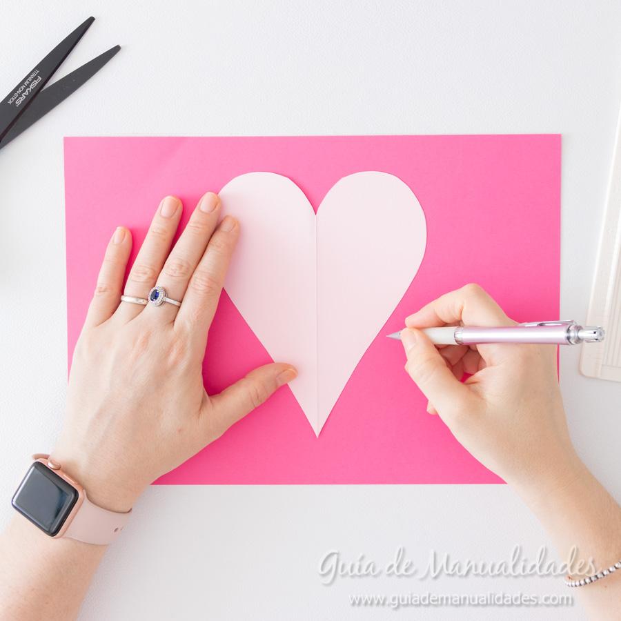 Corazones de papel decorativos 4