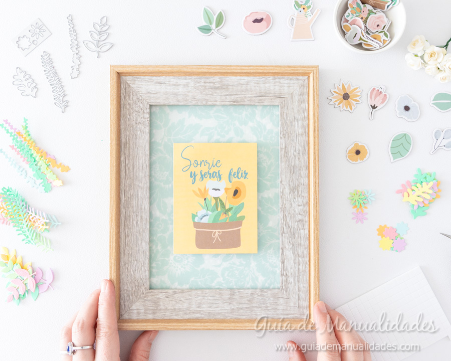 Cuadro de flores y frase de Johanna Rivero 10