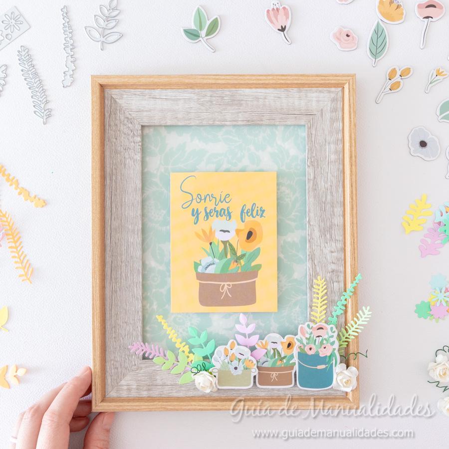 Cuadro de flores y frase de Johanna Rivero 11
