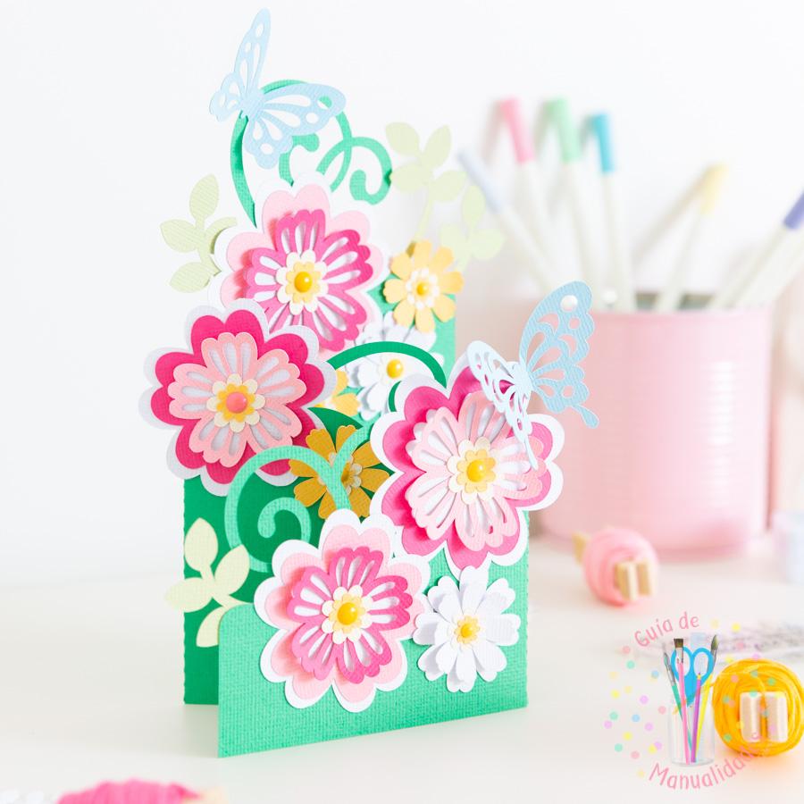 Tarjeta ramo de flores con Scanncut 1