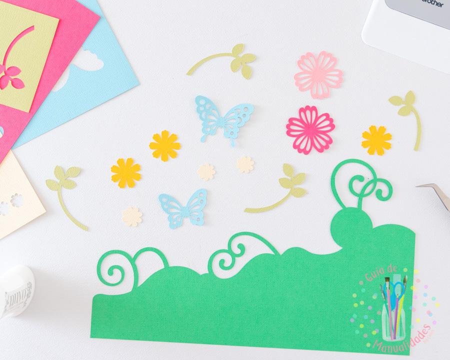 Tarjeta ramo de flores con Scanncut 3