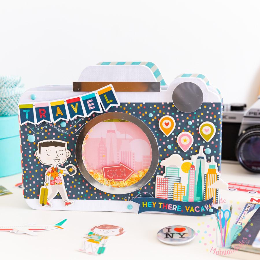 Mini Álbum cámara con patrones de corte 1