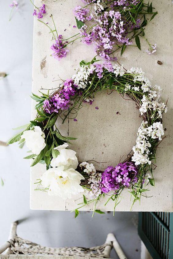 crea corona y diademas DIY con flores frescas 2