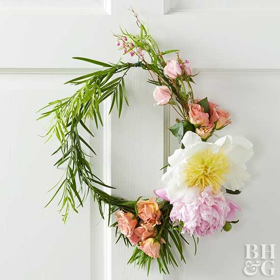 crea corona y diademas DIY con flores frescas 6
