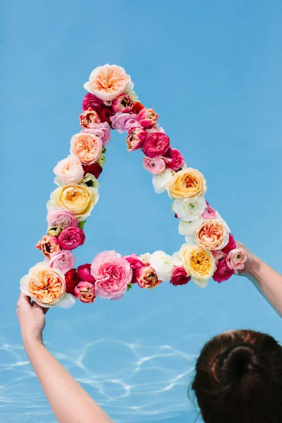 crea corona y diademas DIY con flores frescas 8