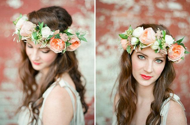 crea corona y diademas DIY con flores frescas 4