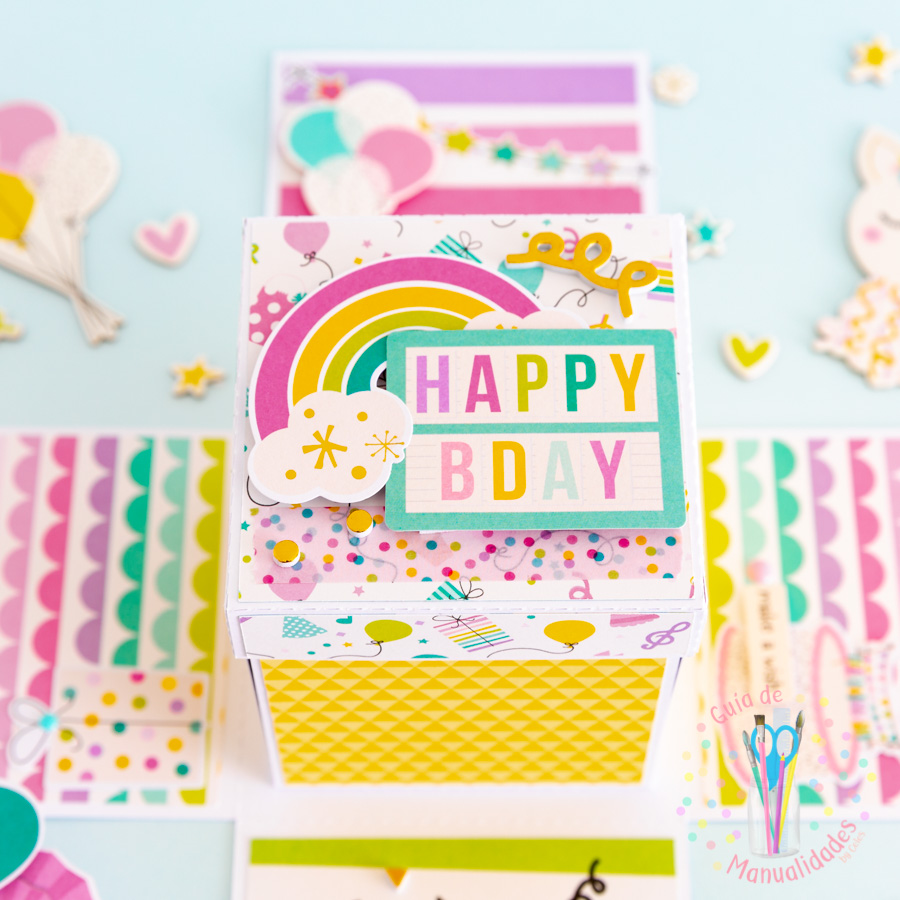 Explosion Box para cumpleaños 8