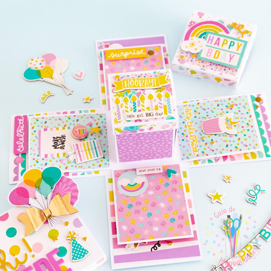 Explosion Box para cumpleaños 9
