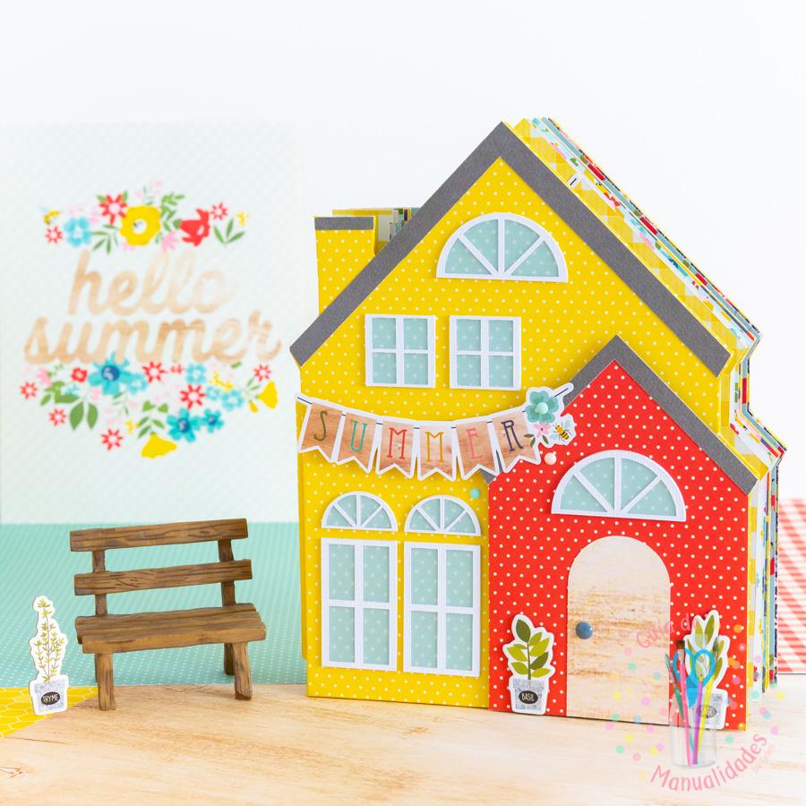 Mini Álbum casa de verano 1